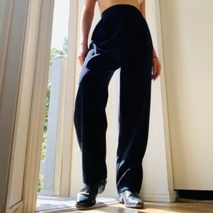 Vintage// High Waisted Black Trousers Pants